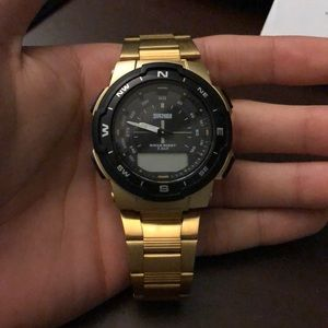 Gold sports watch